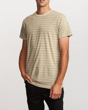 2 Saturation Stripe Knit T-Shirt Yellow M901VRSS RVCA
