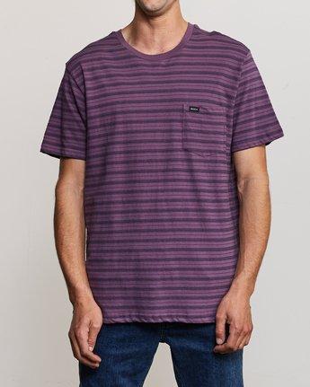 1 Shuffle Stripe Crew Knit Shirt Purple M902URSS RVCA