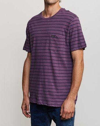 2 Shuffle Stripe Crew Knit Shirt Purple M902URSS RVCA