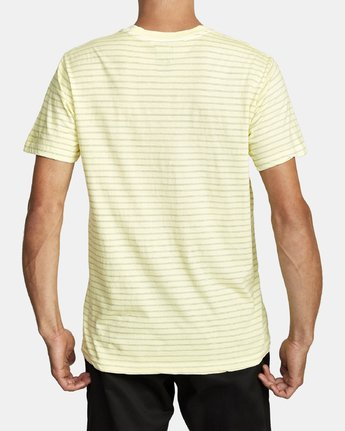 3 PTC STRIPED KNIT SHIRT Yellow M9031RPP RVCA