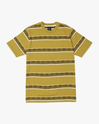 0 CAIRO STRIPED KNIT T-SHIRT Yellow M9041RCC RVCA