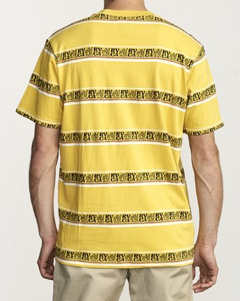 2 CAIRO STRIPED KNIT T-SHIRT Yellow M9041RCC RVCA