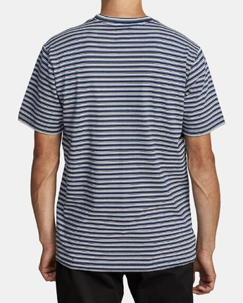 2 DOWNLINE STRIPE SHORT SLEEVE T-SHIRT Blue M9042RDL RVCA