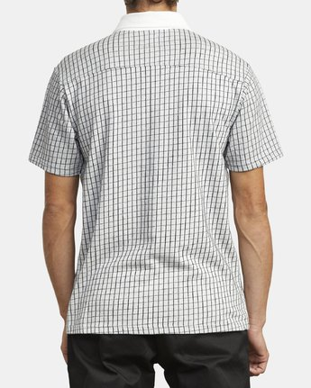 5 FREEMAN SHORT SLEEVE KNIT POLO White M9043RFP RVCA