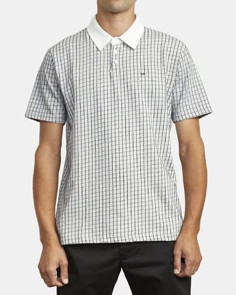 1 FREEMAN SHORT SLEEVE KNIT POLO White M9043RFP RVCA