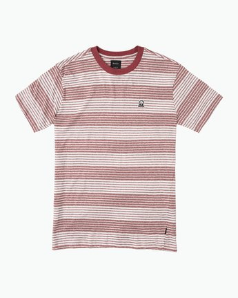 0 Longsight Striped T-Shirt Red M904SRLS RVCA