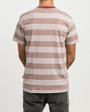 3 Longsight Striped T-Shirt Red M904SRLS RVCA