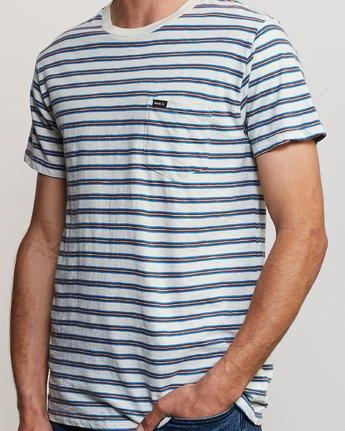 4 Vincent Stripe Crew Knit Shirt Silver M904URVS RVCA