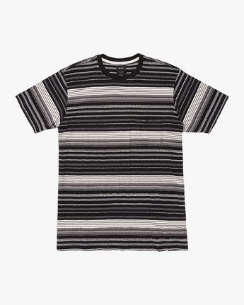 0 Deadbeat Stripe Knit T-Shirt Black M904VRDS RVCA