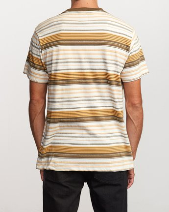 3 Deadbeat Stripe Knit T-Shirt Orange M904VRDS RVCA