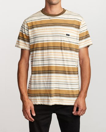 1 Deadbeat Stripe Knit T-Shirt Orange M904VRDS RVCA