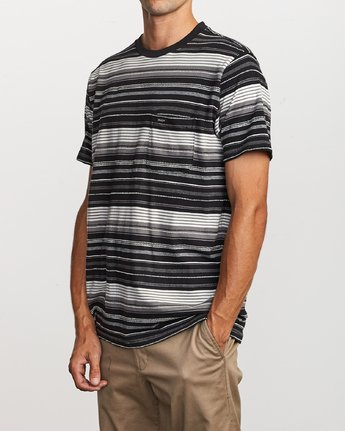 2 Deadbeat Stripe Knit T-Shirt Black M904VRDS RVCA