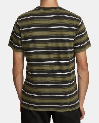 2 DAVIS STRIPE SHORT SLEEVE Knit Tee Black M9052RDS RVCA