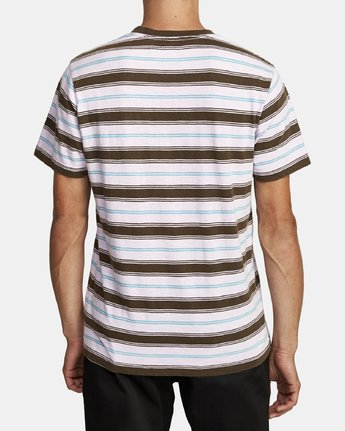 2 DAVIS STRIPE SHORT SLEEVE T-SHIRT Blue M9052RDS RVCA