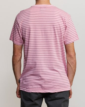 3 Automatic Stripe Knit Shirt Pink M905TRCS RVCA