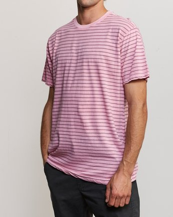2 Automatic Stripe Knit Shirt Pink M905TRCS RVCA