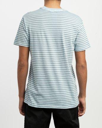 3 Automatic Stripe Knit Shirt Blue M905TRCS RVCA