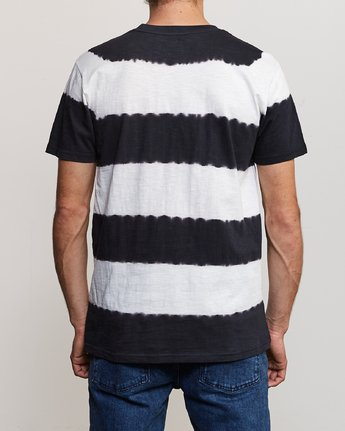 4 Kamli Stripe Knit Shirt Black M905URIS RVCA