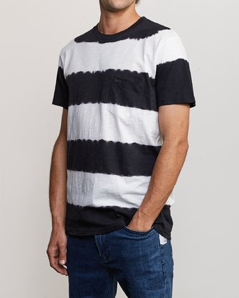 3 Kamli Stripe Knit Shirt Black M905URIS RVCA