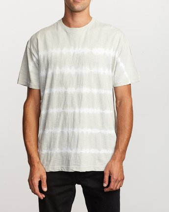 1 Rail Stripe Knit T-Shirt Silver M905VRRS RVCA