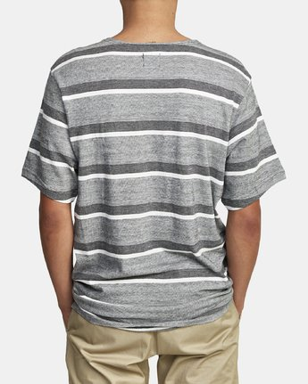 3 REPEATER SS STRIPE T-SHIRT Black M9062RRS RVCA