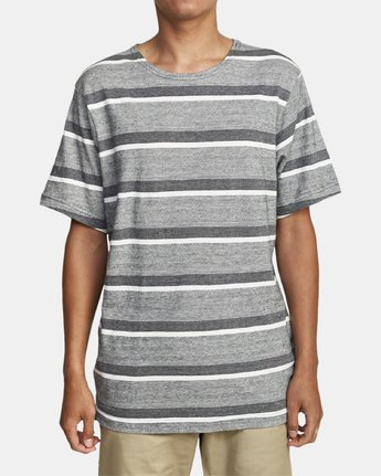 1 REPEATER SS STRIPE T-SHIRT Black M9062RRS RVCA