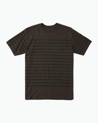 0 Dean Stripe Knit T-Shirt Black M906QRDS RVCA