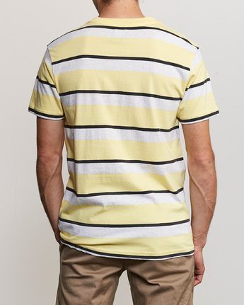 4 Fjords Stripe Knit Shirt Yellow M906URFS RVCA