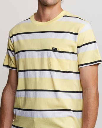 5 Fjords Stripe Knit Shirt Yellow M906URFS RVCA