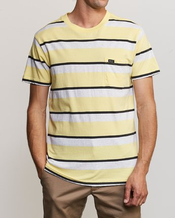 2 Fjords Stripe Knit Shirt Yellow M906URFS RVCA