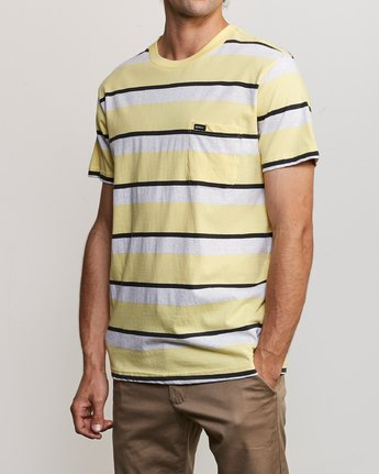 3 Fjords Stripe Knit Shirt Yellow M906URFS RVCA