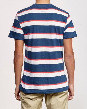 3 Fjords Stripe Knit Shirt Blue M906URFS RVCA