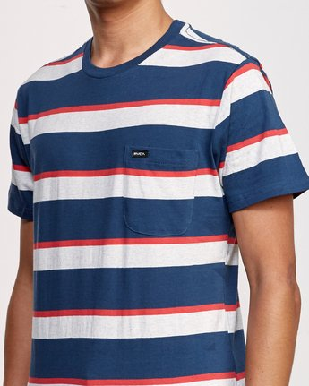 4 Fjords Stripe Knit Shirt Blue M906URFS RVCA