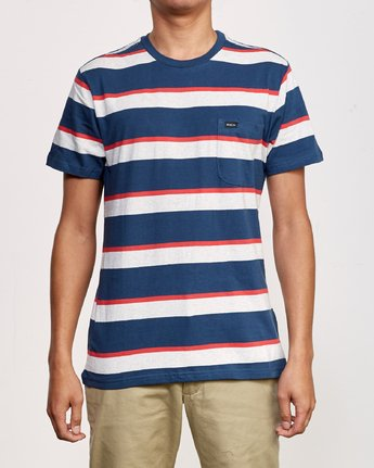 1 Fjords Stripe Knit Shirt Blue M906URFS RVCA