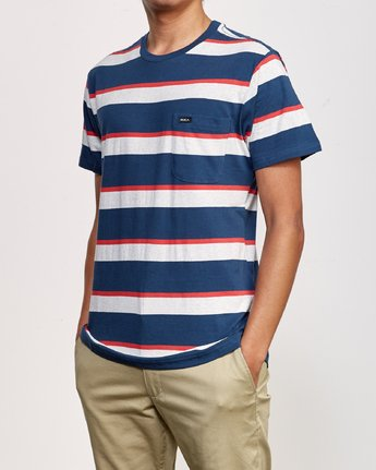 2 Fjords Stripe Knit Shirt Blue M906URFS RVCA