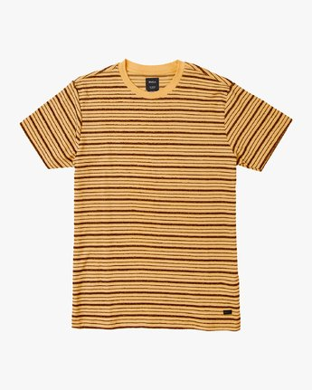 0 Amenity Stripe Knit T-Shirt Orange M906VRAT RVCA