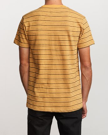 3 Amenity Stripe Knit T-Shirt Orange M906VRAT RVCA
