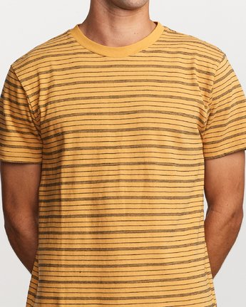 4 Amenity Stripe Knit T-Shirt Orange M906VRAT RVCA