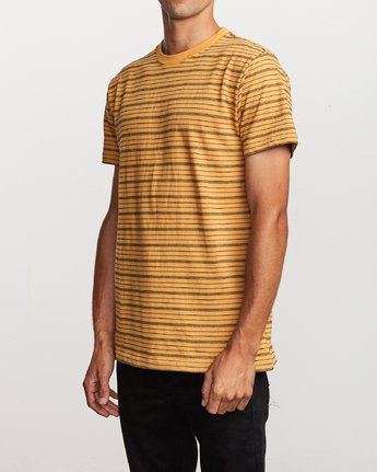2 Amenity Stripe Knit T-Shirt Orange M906VRAT RVCA