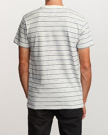 3 Amenity Stripe Knit T-Shirt Silver M906VRAT RVCA