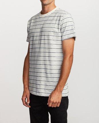 2 Amenity Stripe Knit T-Shirt Silver M906VRAT RVCA