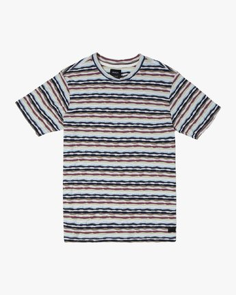 0 KYEO STRIPE SHORT SLEEVE T-SHIRT Grey M9072RKY RVCA