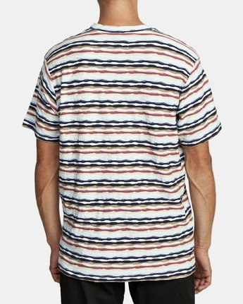 3 KYEO STRIPE SHORT SLEEVE T-SHIRT Grey M9072RKY RVCA