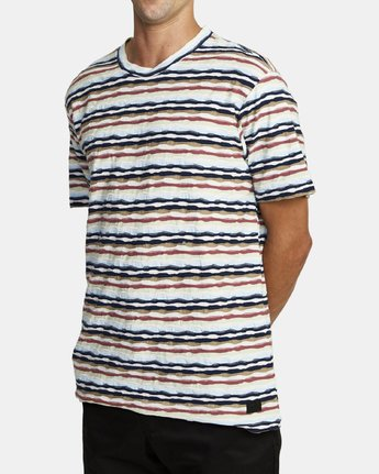 2 KYEO STRIPE SHORT SLEEVE T-SHIRT Grey M9072RKY RVCA