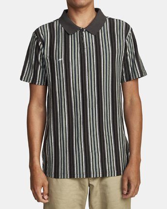 0 HIGHWAY SHORT SLEEVE POLO Blue M9082RHP RVCA