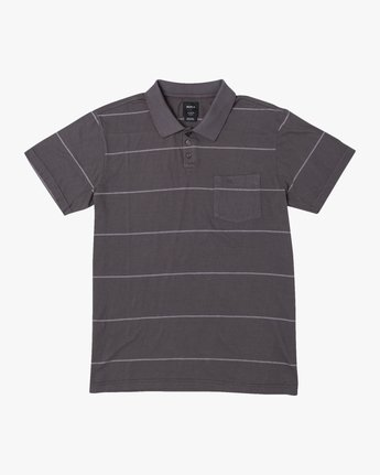 0 PTC STRIPE POLO SHORT SLEEVE SHIRT Black M9092RPS RVCA