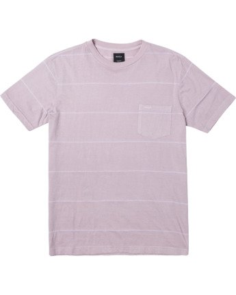 0 PTC STRIPE II SHORT SLEEVE TEE Grey M9093RPS RVCA