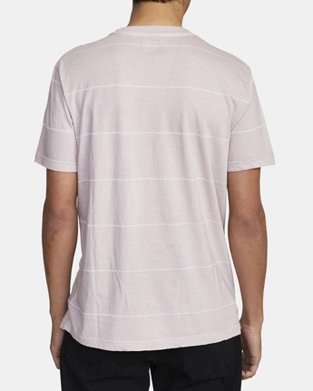 3 PTC STRIPE II SHORT SLEEVE TEE Grey M9093RPS RVCA
