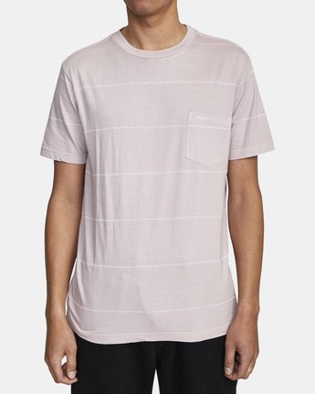 2 PTC STRIPE II SHORT SLEEVE TEE Grey M9093RPS RVCA