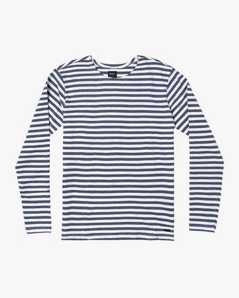 0 Parlou Striped Knit Long Sleeve Shirt Red M909WRPS RVCA
